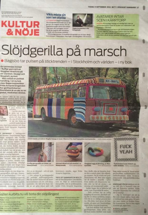 Gerillaslöjd i Mitt i Söderort Hammarby