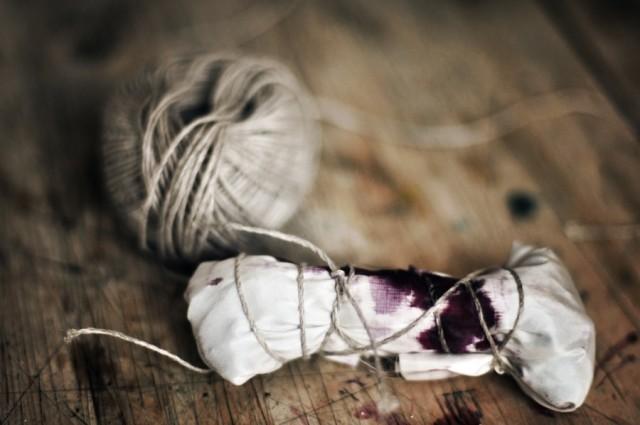Dye it yourself Hornstull, en tidigare kurs arrangerad tillsammans med Slow creations. Bilden i inläggets topp är också från denna kurs. (Foto Stina Axelson)