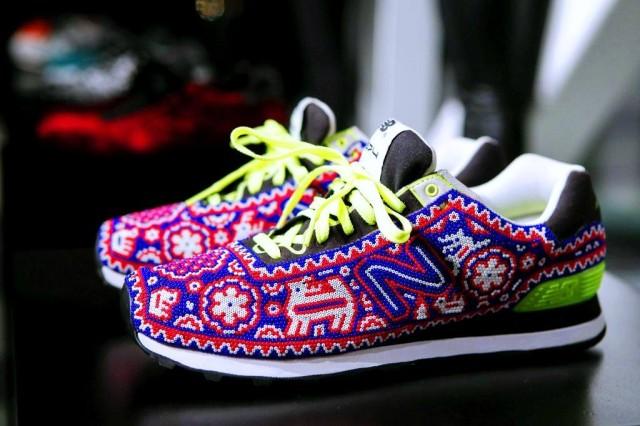 Sneakers gjorda med stor precision av skickliga hantverkare från Nayarit, Mexiko.  (Foto María Isidra Vargas)