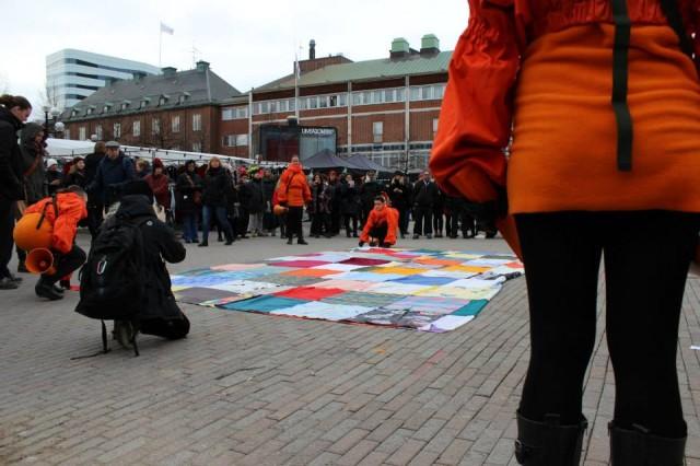 Performancegruppen Otalt genomförde sitt verk i Umeå förra året,  nu kommer de till Stockholm. (Foto Camilla Påhlsson Konstfrämjandet Västerbotten)