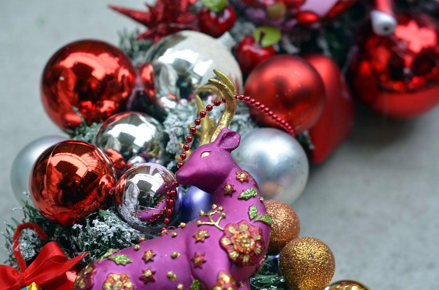 Detalj från en älskad julkrans här hemma. (Foto Kurbits)