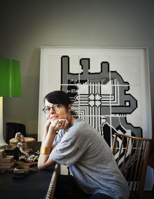 Cilla Ramnek, som ligger bakom boken Från ateljén - en bok om att göra. (Foto Patric Johansson)