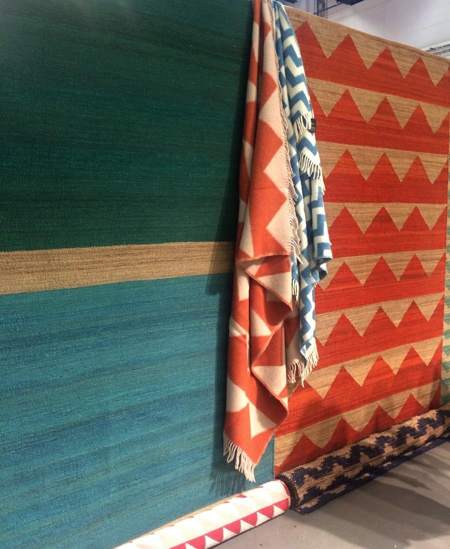 I Brita Swedens monter fanns många fina nyheter, bland annat dessa mattor i hampa. (Foto Kurbits)