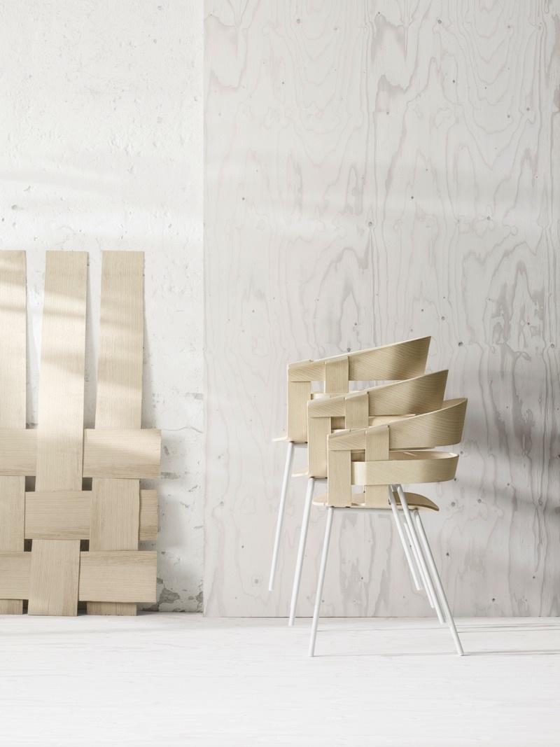 Wick chair, av Jesper Ståhl och Karl Malmvall, med inspiration ur en spånkorg och dess flättradition. (Foto Design House Stockholm)