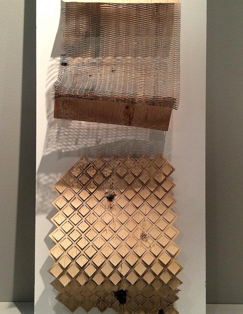 Emma Dahlqvists It's now or Näver utforskar nävret som textilt material. Tänk om våra kläder ser ut så här i framtiden! Fantastiskt. (Foto Kurbits)