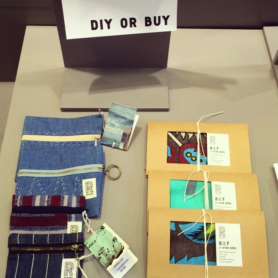 En hel del finesser finns i Remakes sortiment, här detalj från DIY or buy, där du antingen köper färdigt eller gör själv. (Foto Kurbits)