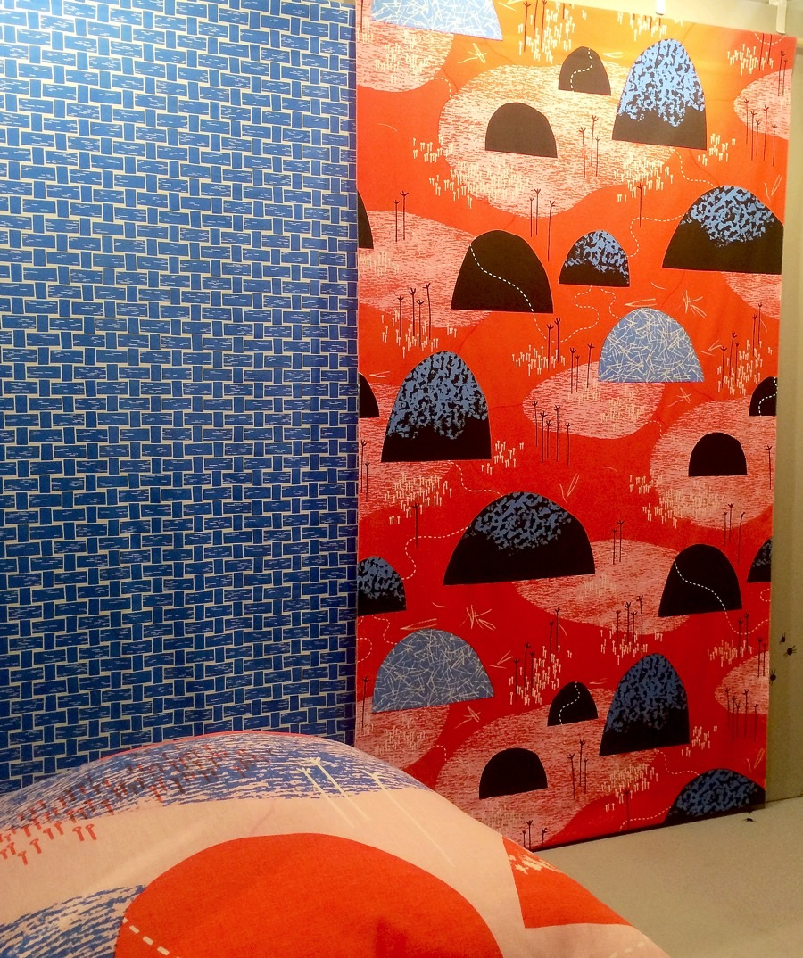 Och ytterligare nya mönster och nya görare - tadaaa! Här är Studio Murkla! Textil av hög klass. (Foto Kurbits)