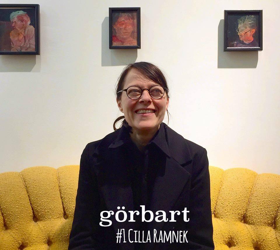 Konstnären och kreatören Cilla Ramnek gästar vårt första avsnitt av Görbart - en podd om handgjort skapande. (Foto Görbart)