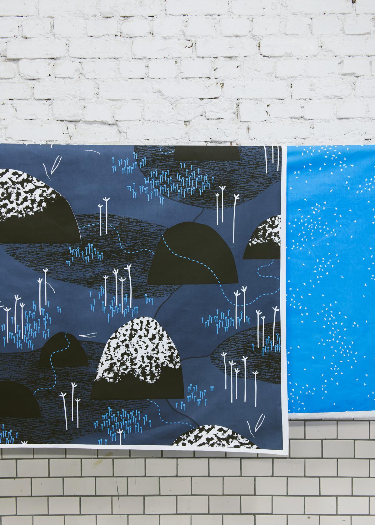 Myrsteg och till höger Näverfläta av Studio Murkla. (Foto Hilda Granath)