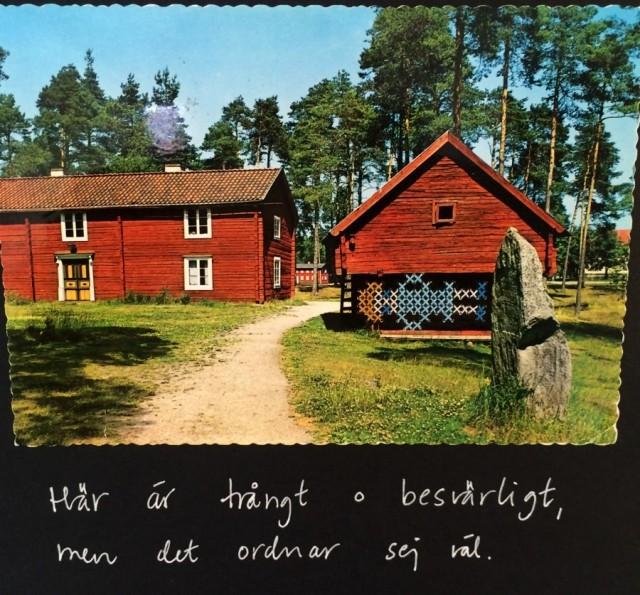 Och sista - från inläggets topp... Korsstygnsbroderi av Britta Johanson. (Foto Kurbits)
