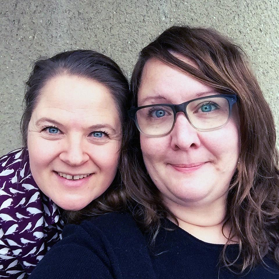 Här är vi! Jag till vänster och  Erika Åberg till höger.