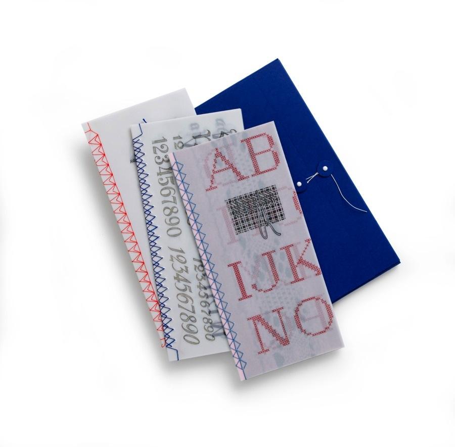 Trådbundna häften, ur Papper och stygn, utgiven på Hemslöjdens förlag. (Foto Thomas Harrysson)