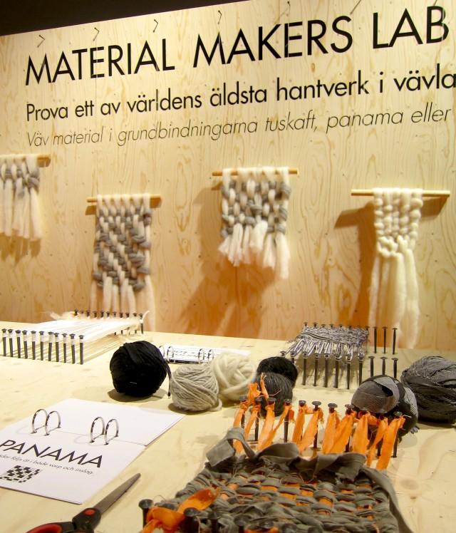 Material Makers Lab, årets upplaga av Handarbetets Vänners inslag (hehe) på Formex handlade om vävning och var mycket uppskattat. (Foto Kurbits)