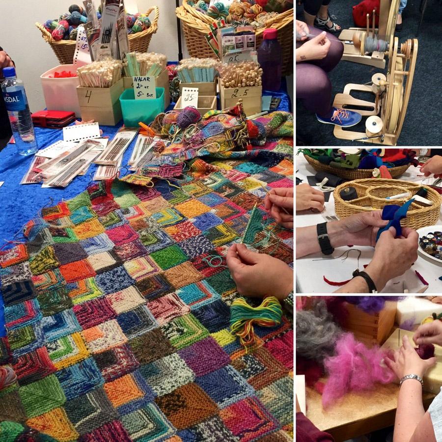 Med ännu fler utställare än tidigare laddar Sy- och hantverksfestivalen med utbud och inte minst - aktiviteter. Gå en kurs under mässan! (Foto Sy- och hantverksfestivalen)