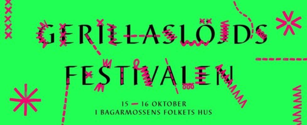 Nu börjar den snart: Välkommen till världens första Gerillaslöjdsfestival!