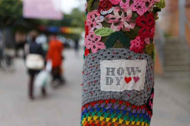 En av många fantastiska taggar vi såg under Gerillaslöjdsfestivalen i oktober - den första i världen!  Tack alla ni som medverkade! (Foto Peter Narkiniemi)