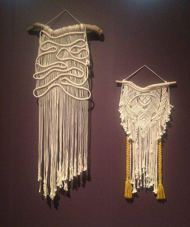 Frosta Design med sina populära makraméknytningar, del i inspirationsutställningen. (Foto Kurbits)