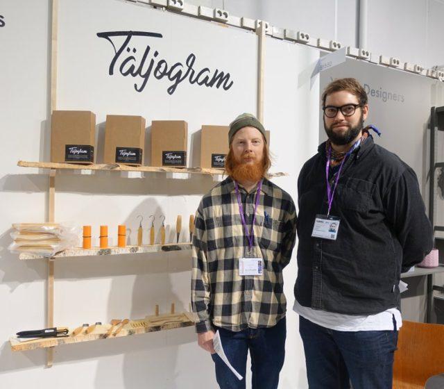 Felix Wink (tv) och Ragnar Kierkegaard Suttner är grundare av tjänsten och produkten Täljogram och vill inspirera dig att tälja mer. (Foto Kurbits)