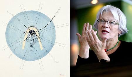 Hör Britta Marakatt-Labba prata på Konstfack imorgon! Hon är bla aktuell som Sápmis och Sveriges representant på Documenta 2017 och en mycket intressant konstnär med bla broderiet som uttryck. (Foto Konstfack)