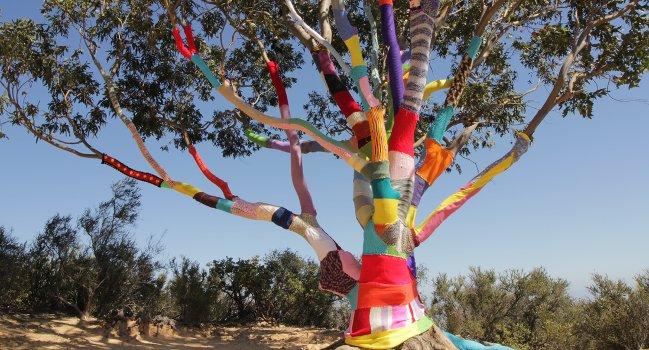 Yarnbomber detonerar garn i naturen