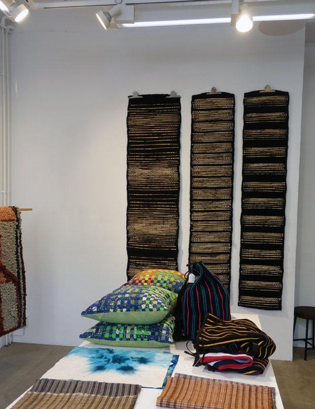 Arbete av Siri Pettersson, idag och imorgon finns handvävarna i Studio Supersju samlade - gå och se! (Foto Kurbits)