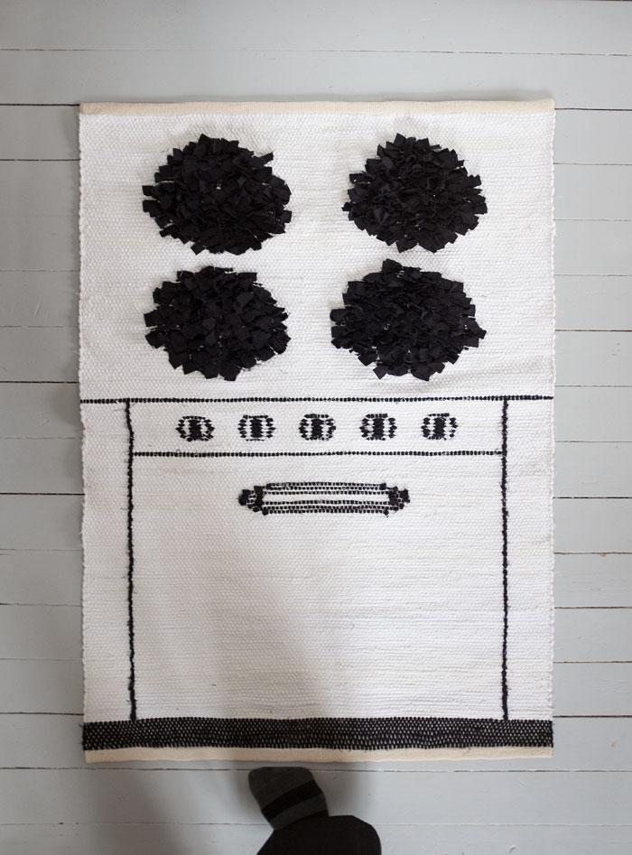 Väva Spis - till projektet som lanserades i helgen har produkter formgivits av Elisabeth Dunker och producerats av lokala hantverkare. Produkterna är alla baserade på fynd gjorda i Hemslöjden i Skånes arkiv. (Foto Elisabeth Dunker)
