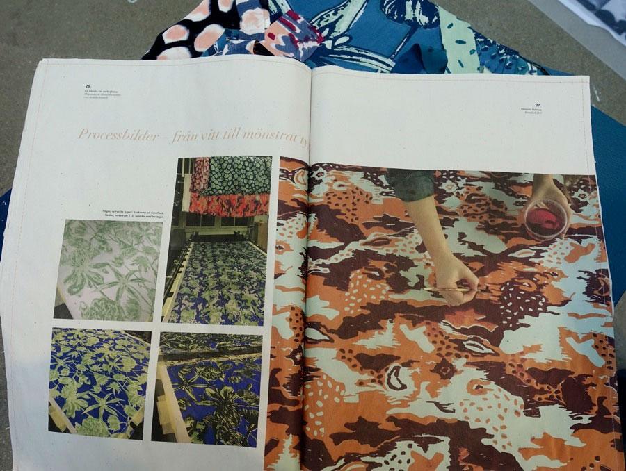 I textil, text och bild undersöker Amanda Hultman textila villkor för vad hon kallar en värdelös bransch. (Foto Kurbits)