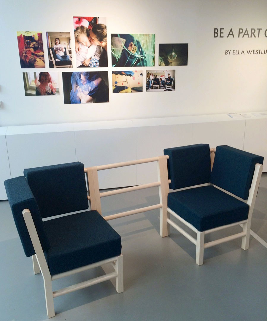 Ella Westlunds soffa Be a part of, för större inkludering av tex anhöriga och barn med funktionsvariation. (Foto Kurbits)