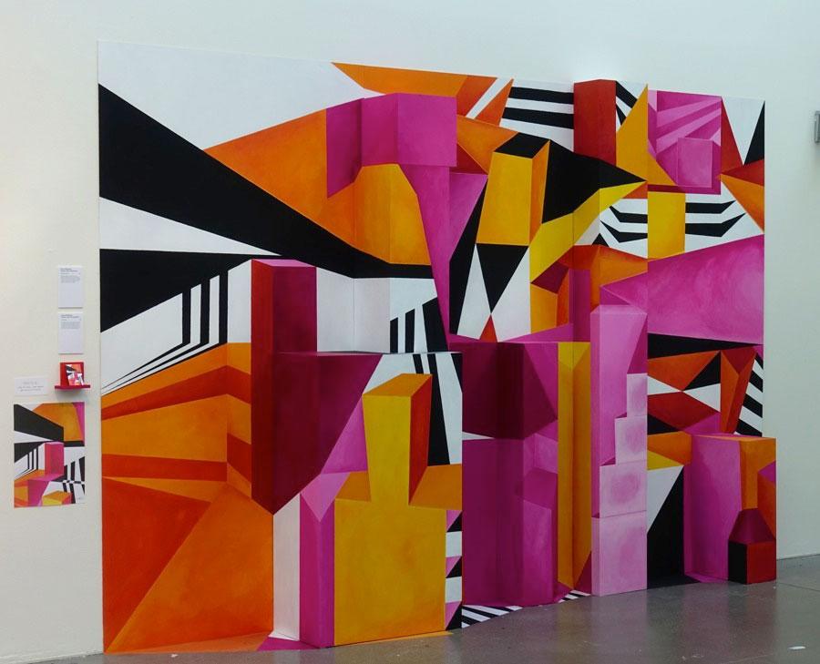 Emma Brålanders 3D-väggmålning stack också ut. (Foto Kurbits)