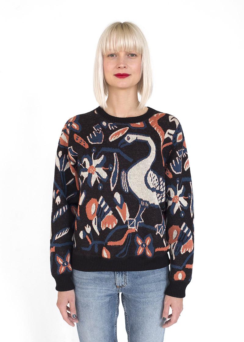 ...som till exempel blivit motiv för stickade tröjor som den här. (Foto Elisabeth Dunker)