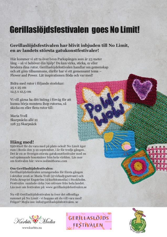 Ytterligare exempel på - mer närliggande - projekt där vi gemensamt gör bättre. Delta i Gerillaslöjdsfestivalens manifestation på No Limit!