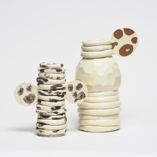 Bild från Formex Formidable-fotningen av de nominerade - dessa ringlade vaser från Studio Johanna Günther är utvalda. Mycket fina! (Foto August Eriksson)