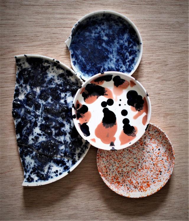 Verk av Masayshi Oya, visas just nu i utställningen Kompositioner tillsammans med Åsa Pärsons textil. På Galleri Anna H i Göteborg. (Foto Studio Oyama)