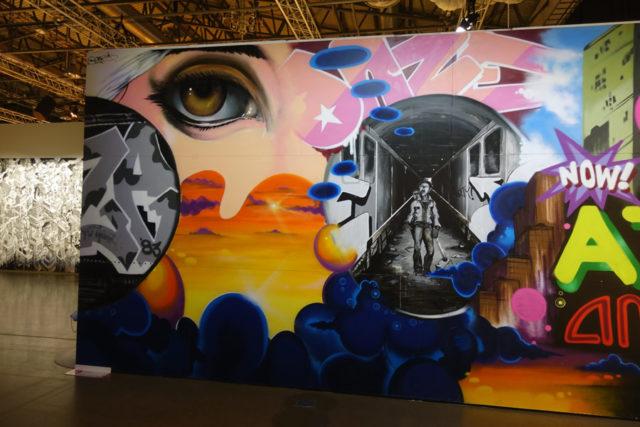 En av graffitins tidiga pionjärer, amerikanska Daze finns tidigt i utställningen Magic City - the Art of the Street, just ni i Stockholm. (Foto Kurbits)