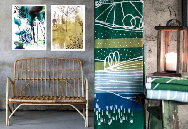 Patternplan på plats med mönster och produkter. (Foto A la London)