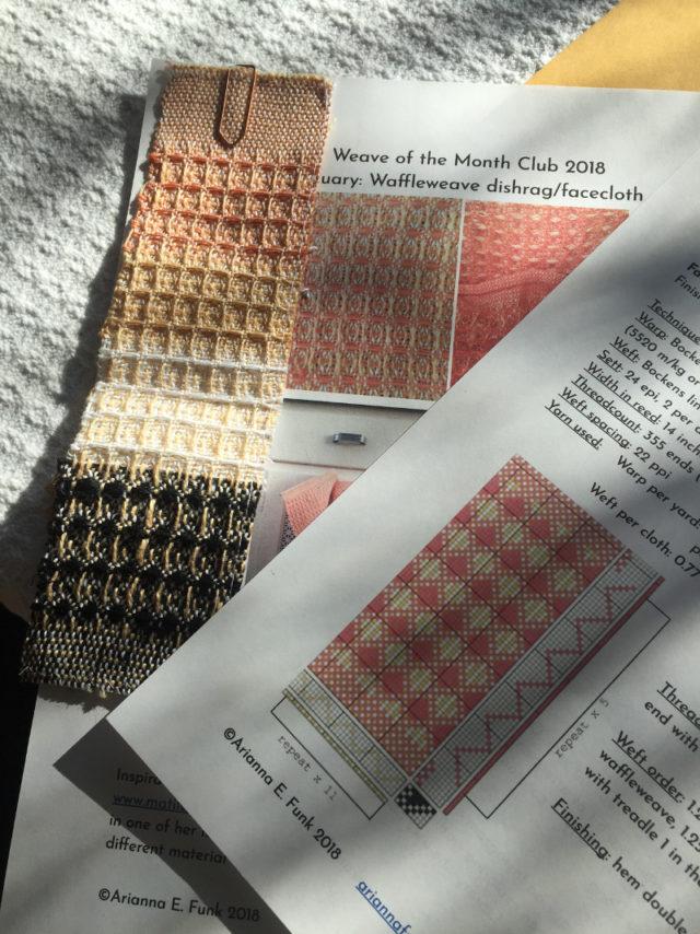 Den första i varje månad skickas en ny pdf med ett vävprojekt ut. Weave of the Month Club är en prenumerationstjänst för vävnotor, skapat av Ariana Funk. (Foto Ariana Funk)