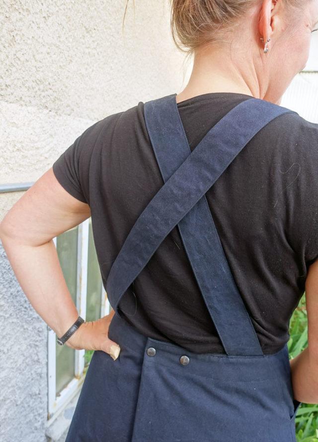 De förhållandevis långa hängslena är rejält fästade och ger möjlighet att reglera själva plagget efter din kropp, något som jag tyckte om. (Foto Anders Engstrlm)
