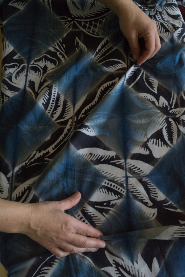 Kattun är cotton, textilkonstnären Elsa Chartins bidrag. (Foto Åsa Andersson Broms)