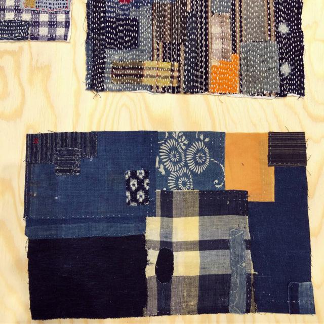 """""""Jag visar mina förstygn. Det är de riktigt enkla stygnen - bara upp och ner för hand. Jag skapar konstverk med hjälp av Sashikoteknikens lagning och lager och visar även hur jag lagar mina kläder. Det enklaste är oftast det som tar mest tid"""" säger Takao Mommiyama om sin medverkan i KIN: (Foto Kurbits)"""