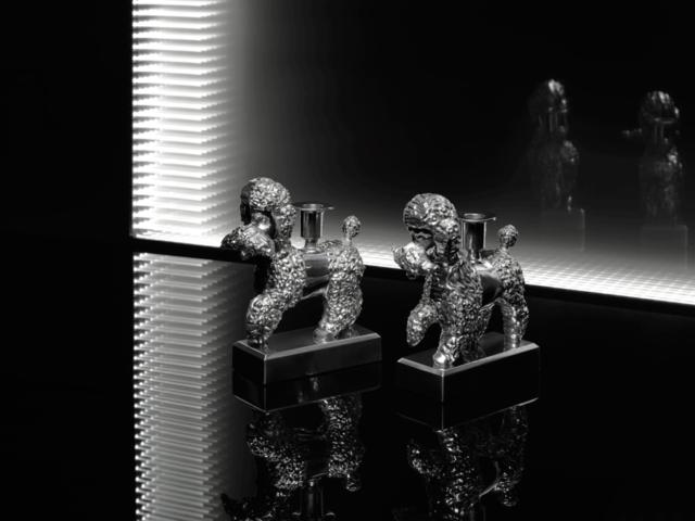 Hundar som ljusstakar som prydnad som föremål. Per B Sundberg för Ikea. (Foto Ikea)