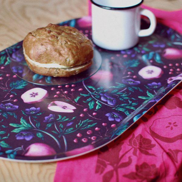 Mönstret Pomona hämtar inspiration från en rad förbjudna frukter, i en färgställning som jag verkligen gillar. Mönstret heter Pomona. (Foto Sloydlab)