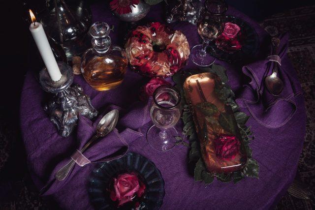 Från kollektionen Eat you, med bordslinne i olika färgställningar och format. (Foto Sloydlab).