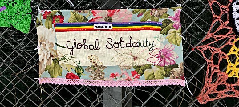 Global Solidarity: Gerillaslöjdare i gemensam garnaktion för klimatet
