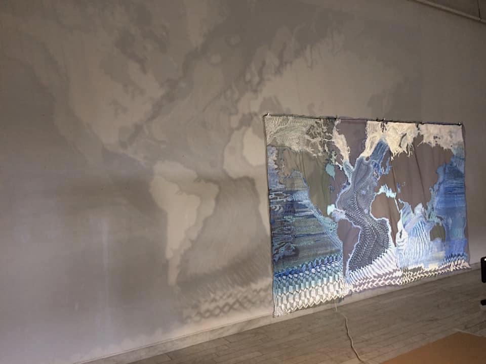 Outforskat vatten, utställning med Katarina Evans på HV Galleri just nu. Skynda kolla! (Foto Katarina Evans)