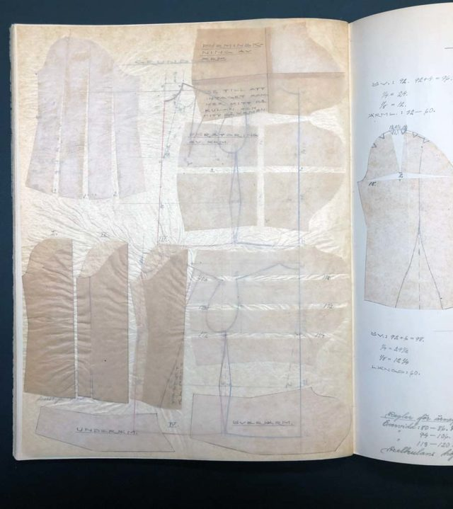 Gammal mönsterkonstruktionsbok för att få förståelse för hur det gjordes förr. (Foto Kurbits)